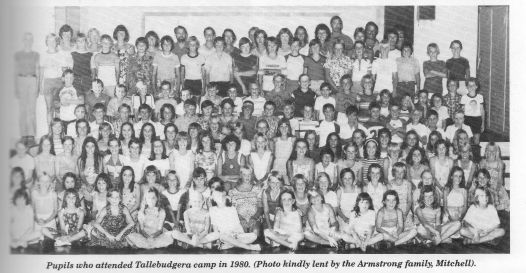 Pupils who attended Tallebudgera camp in 1980