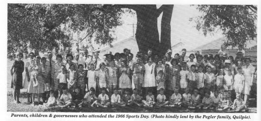 Parents, children and governesses who attended the 1966 Sports Day